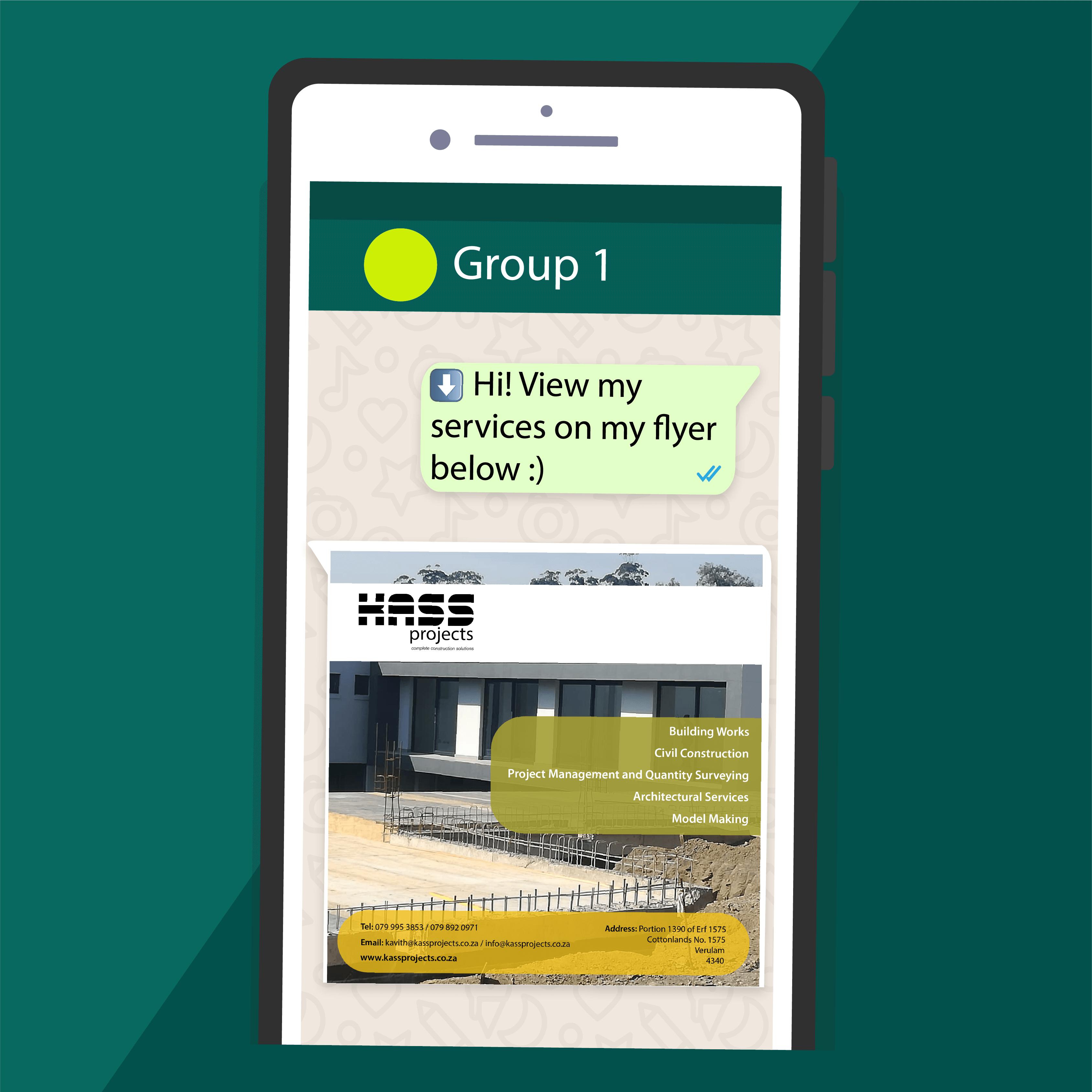 P4.WhatsApp flyer design